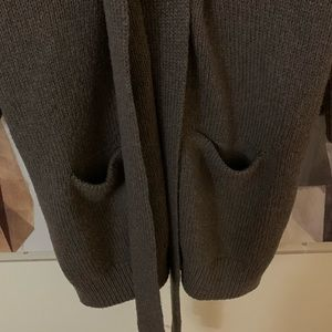 Vince Sweaters - Vince tie front wool long cardigan sweater large
